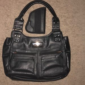 Handbags - Concealed carry purse black